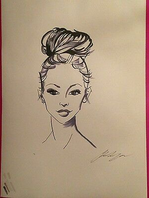 Elegant hand drawn, signed picture