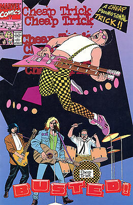 Cheap Trick - Busted Comic Book Promotional Only New 1990 Free U.s. Shipping