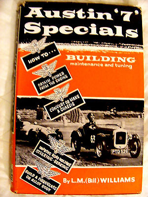 AUSTIN 7 SPECIALS CAR BOOK by L.M.WILLIAMS