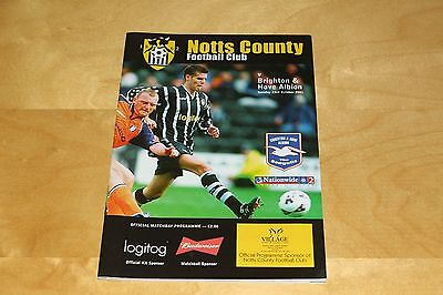 Notts County vs Brighton & Hove Albion - League Two - 23rd Oct 2001