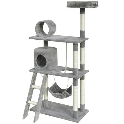 Cat Tree Scratching Post Scratcher Pole 1 House Pet Gym Condo Toy 140cm Grey