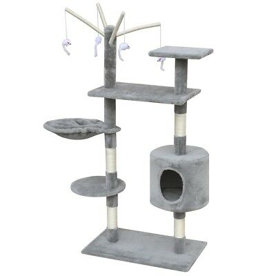 Cat Tree Scratching Post Scratcher Pole 1 House Pet Gym Condo Toy 130cm Grey