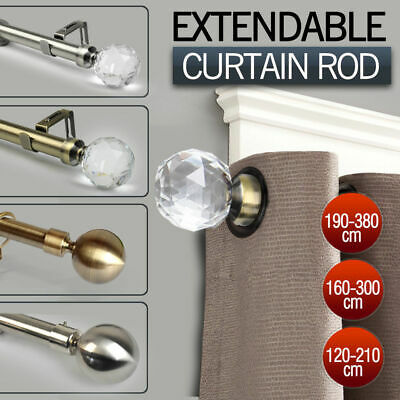 Curtains Ideas 380 cm curtain pole : 28mm Alloy aluminum curtain rod,Ultra smooth/quiet, 1.85M width or ...