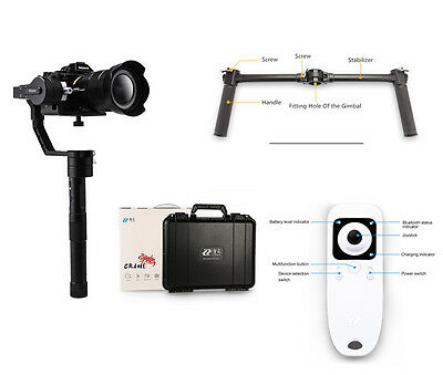 US Stock ZhiyunCrane 3 Axis Camera Gimbal for DSLR/Mirrorless+Handle grip+Remote