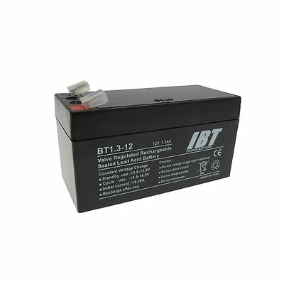 12 Volt 1.3Ah Rechargable Battery for Wired Alarm Control Panels BATT12V R/C