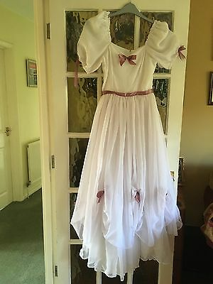 Vintage bridesmaid dress Victorian Style/ Fancy Dress/ Approx size 8
