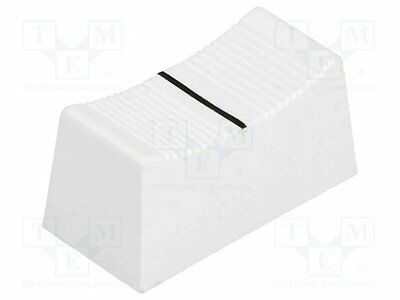 1 pc Knob: slider; Colour: white; 23x11x11mm; Mat: plastic