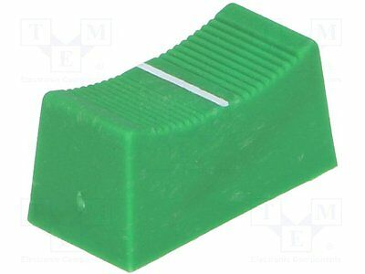 1 pc Knob: slider; Colour: green; 23x11x11mm; Mat: plastic
