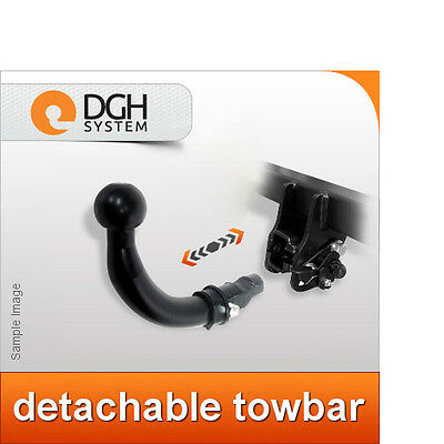 Detachable Horizontal Towbar with Electric Kit 13Pin for AUDI A4 2015 B9 Saloon