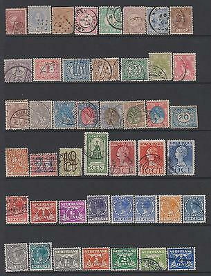 Netherlands from 1867 - Collection of 164 stamps on 4 pages - cat value £85+