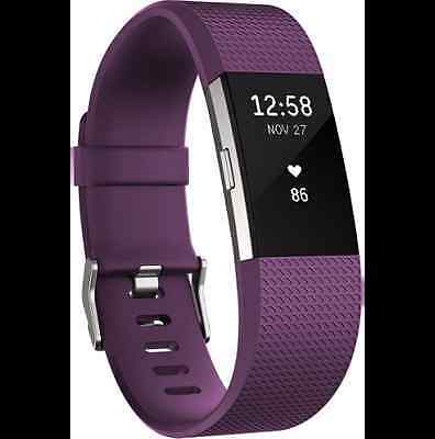 ***FITBIT Charge 2 Heart Rate + Fitness Wrist Band Plum--- Brand New Sealed@@@@