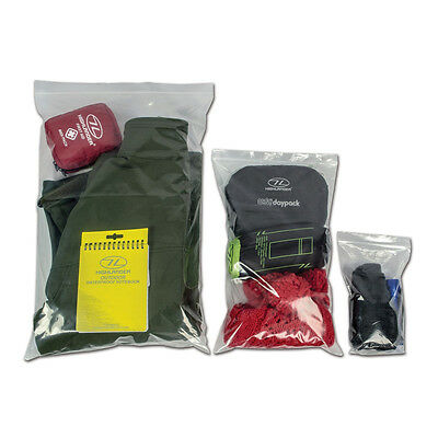 Highlander Clear Self Sealing Bags - 3 Sizes (9 Bags in Total)