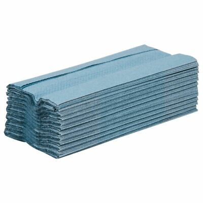 15X Jantex C Fold Hand Towels Blue Dispenser Tissue Kitchen Cleaning Commercial