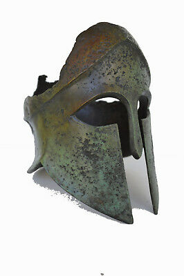 Spartan Shattered Helmet solid Bronze Ancient Greek