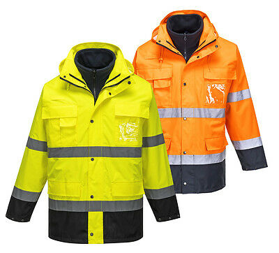 Portwest S162 Mens Work Jacket Waterproof Hi Vis 3 in1 Softshell Parka Workwear