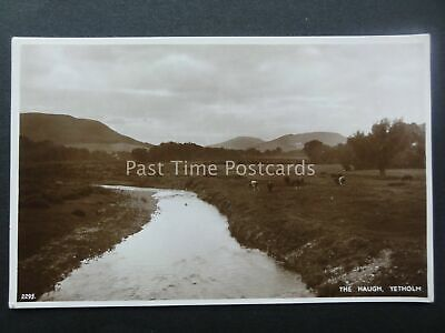 Scotland YETHOLM The Haugh c1940's RP Postcard by A.R. Edwards & Son