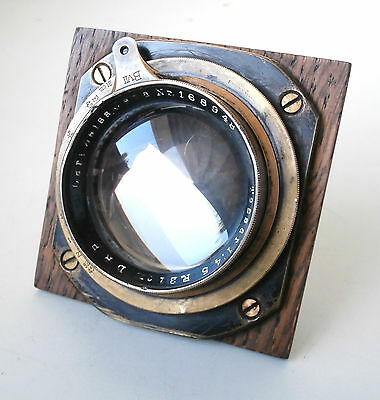 Carl Zeiss Jena Tessar 21cm f4.5 B VII Large Format Brass Lens TLC Needed
