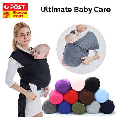 Baby Sling Cotton Stretchy Adjustable Wrap Carrier Infant Breastfeeding Newborn