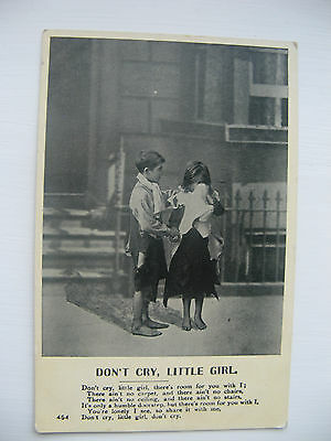 DON'T CRY, LITTLE GIRL. UNPOSTED CARD FROM THE EARLY 1900's