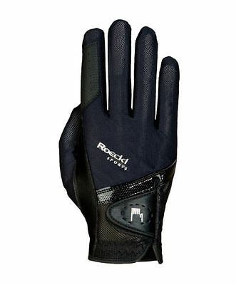 Roeckl Madrid( London) Riding Glove Black and Black Touchscreen Compatible