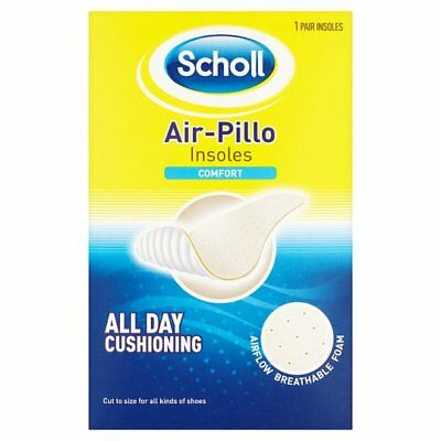 Scholl Air Pillo Comfort Shoe Insoles Cut to Size