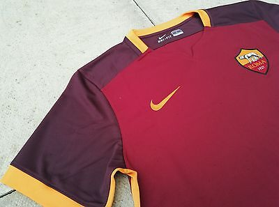 Nike AS Roma Home 2015/16 Mens Football Shirt Jersey Brand New Size M, XXL Sale