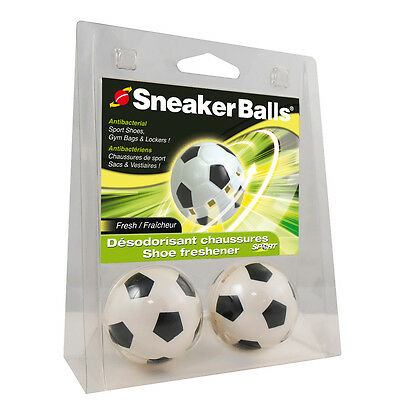 Sneaker Balls Sports Shoe Trainer Odour Freshener Deodoriser - 2 Pack / Football