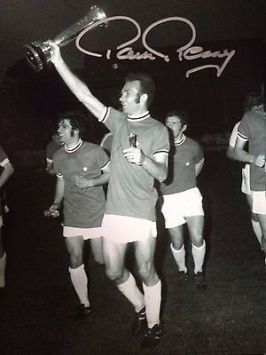 Paul Reaney - Former Leeds United Footballer  - Signed B/w Fairs Cup Win Photo