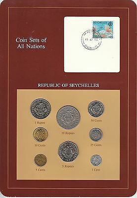 Coins of All Nations Set - Seychelles - 8 Coins - 1977-82