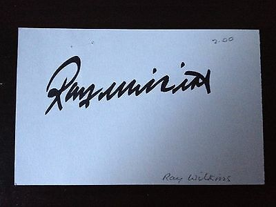 Ray Wilkins - Former Manchester United Footballer - Signed White Index Card