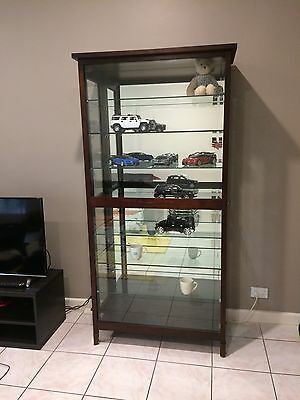 Solid Wooden Glass Display Cabinet.