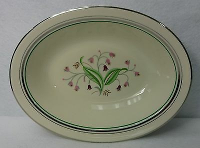 "SYRACUSE china CORALBEL platinum Oval Vegetable Serving Bowl - 9-3/4"" smooth"