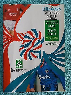1990 - LEAGUE CUP FINAL PROGRAMME - NOTTS FOREST v OLDHAM ATHLETIC