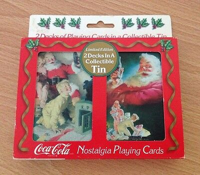 NEW 1996 Coca-Cola Limited Edition Nostaligic Cards in Tin