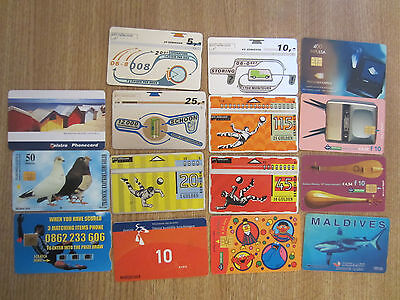 Lotto A - 15 Schede Telefoniche Used Phone Cards Vario Estero Usate