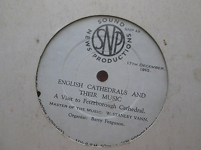 English Cathedrals & Their Music - A Visit To Peterborough Cathedral - Snp 49