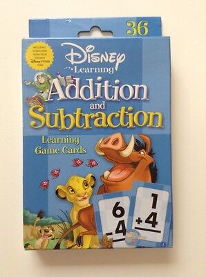 Disney Pixar Learning Addition And Subtracion Math Game Flash Cards Educational