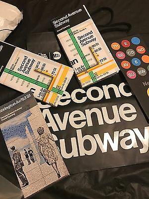 Nyc Second Avenue Station Maps Brochure & Bag