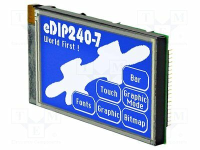 1 pc Display: LCD; graphical; STN Negative; 240x128; blue; LED; 113x70mm