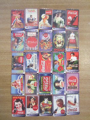 Lotto F -  25 Schede Telefoniche Coke Coca Cola Used Phone Cards Uk Usate Scheda