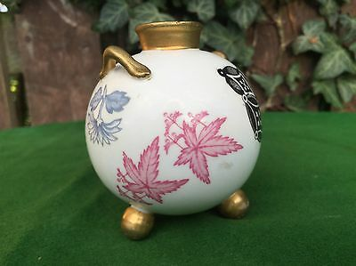 Antique Royal Worcester C.1887 Japanese Inspired Aesthetic Movement Vase