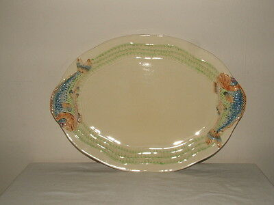 Clarice Cliff Art Deco Carp Design Fish Platter Plate Truly Stunning