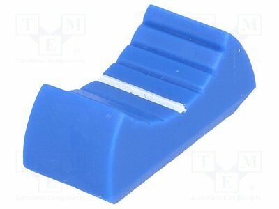 10 pcs Knob: slider; Colour: blue; 24x11x10mm; Mat: plastic material
