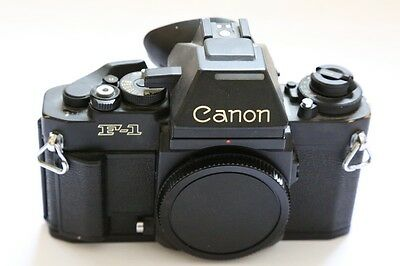 Canon F1n 35mm Professional SLR body with AE prism finder, eyecup & body cap