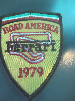 FERRARI Club of America 1979 Road America Annual Meet Embroidered Patch FCA