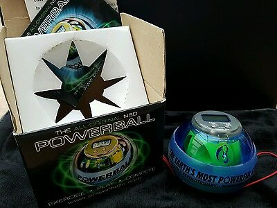 NSD POWERBALL 250Hz Hand Gyroscope NEON BLUE PRO Boxed & excellent order!