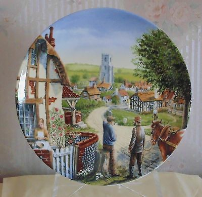 """Collectors Plate """"rose Cottage"""" By Royal Doulton"""