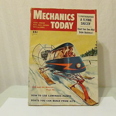 Mechanics Today March 1954 Ski-Mobile Cover