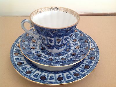 Russian Imperial St. Petersburg Porcelain Cup & Saucer Side Plate Hand Decoratd.