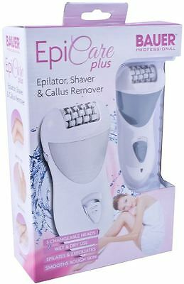 Bauer 3 In 1 Epicare Plus Rechargeable Wet Dry Professional Lady Shaver Epilator